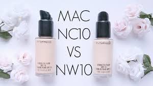 Review: <b>MAC</b> Studio Fix Fluid <b>NC10</b> VS NW10 - YouTube