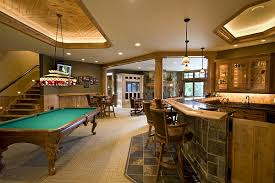 view in gallery rustic yet elegant basement as rec room basement rec room decorating