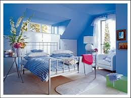 interior bedroom mixing paint colors bright blue for modern kids new home decorating vintage blue small bedroom ideas