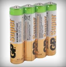 Батарейка щелочная LR03 (ААA, 286) 1,5В (уп.= 4шт.) LR03 <b>GP</b> ...