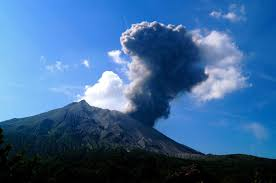 accumulation highlights growing threat from ese volcano small explosion at sakurajima volcano credit james hickey