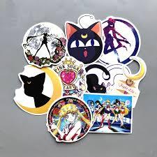 <b>9 Pcs Anime Sailor</b> Moon Mixed Hit <b>Stickers</b> Jdm Fridge Skateboard ...