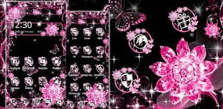 Pink <b>Black Flowers</b> Theme - Apps on Google Play