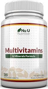 <b>Multivitamins</b> & <b>Minerals Formula</b> | 365 Tablets (Up to 1 Year Supply ...