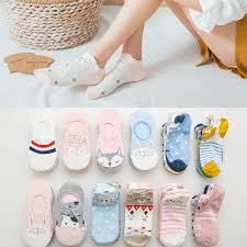 <b>5pairs</b>=<b>10pieces Cartoon women socks</b> cotton invisible socks Cute ...