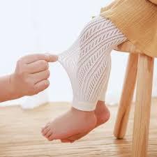 <b>Summer Mesh Thin</b> Children's Pantyhose Girl White <b>Cotton</b> Baby ...