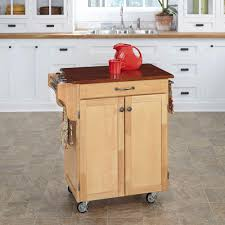 leaf kitchen cart: cuisine cart cherry top kitchen cart in natural