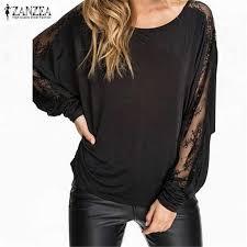 ZANZEA Plus Size Women Stitching <b>Lace</b> Blouse 2019 Spring ...