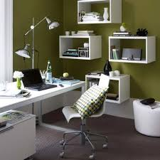 home office design idea box shelves attached to the wall double as storage space and avenue greene grey ladder storage office wall