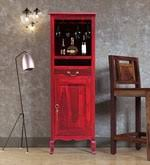 Buy Anne <b>Solid Wood</b> Bar Unit in Spicy <b>Red</b> Finish by Amberville ...