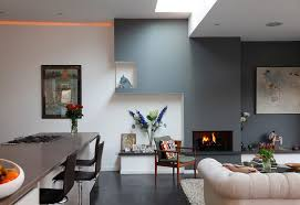 living room combined modern