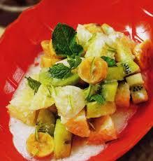Cách làm thơm mát các món trái cây hỗn hợp