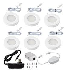 xking k0631 dimmable pack set of 6 led under cabinet lighting kit 12v total 12watt cabinet lighting 6