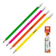 <b>Карандаш чернографитный Kores</b> Grafitos Neon трехгранный HB ...