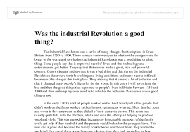 imgcroppedpng was the industrial revolution a good thing   university  document image preview essay about industrial revolution