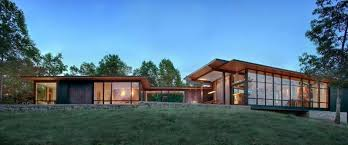 Contemporary US Lake House Defined by Openness and Transparency    Collect this idea design exterior Piedmont House