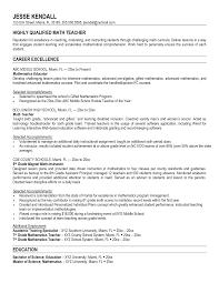 resume math teacher template middle school teacher resume examples