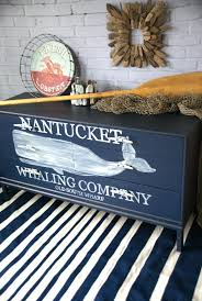 nautical dresser with a hand painted whale graphic link to the free graphic plus nautical furniture decor