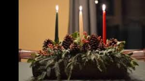 Candles may be green, <b>red, and silver</b> or white to represent the Oak ...