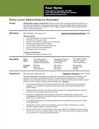 doc 618800 job resume sample advertising executive salary entry level administrative assistant resume entry level