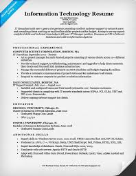 information technology it resume example it resume examples