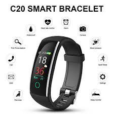 <b>C20</b> Color Screen Step Counter Pedometer <b>Smart Bracelet</b> ...