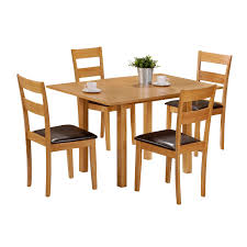 4 chair kitchen table: foxhunter quality solid wooden dining table and  chairs set