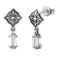 LEKANI <b>S925 sterling silver</b> retro fashion earrings SVE231 – Vigtags