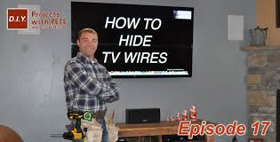 Hide Tv In Wall How To Hide Tv Wires Code Compliant Tv Wiring Youtube