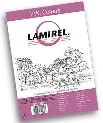 Обложки Lamirel Transparent, A4, PVC, красные, 200 мкм, 100 штук