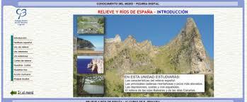 Resultado de imagen de clarion web relieve y rios de españa