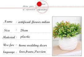 Artificial Flower 5 <b>forks</b> Milan orchid Plant Plastic Bouquet High ...
