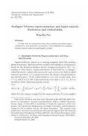 Analogies between superconductors and liquid <b>crystals</b>: Nucleation ...