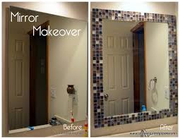 update bathroom mirror: to z with a little j makeover