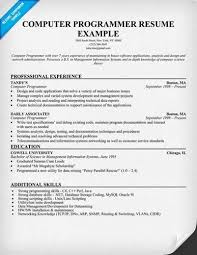 about sample programmer resumes programmer analyst resume example page 1