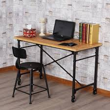 american country old wrought iron vintage wood computer desk office desk leisure tea table book american country wrought iron vintage desk
