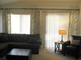 sliding living room curtains applied
