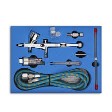 <b>Pro Dual Action 3</b> Airbrush Air Compressor Kit Craft Cake Paint Art ...