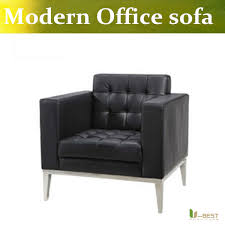 u best high quality real leather reception office cheap office sofa