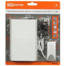 <b>Звонок дверной беспроводной TDM</b> Electric SQ1901-0017 в ...