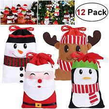 <b>Christmas Decorative</b> BagsHemoton 12 -Piece Candy Bags Cute ...