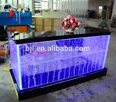 pop unique rectangular led reception counter with top glass acrylic glass display reception desk acrylic glass desks