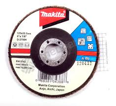<b>Круг лепестковый торцевой Makita</b> 125 мм x 22 мм, A40 — купить ...