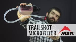 Обзор <b>фильтра MSR</b> TRAILSHOT MICROFILTER - YouTube