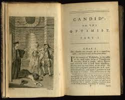 voltaire and the old order candide by voltaire writework english frontispiece and first page of chapter one of an early english translation by t