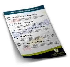 recruitment branding checklist now