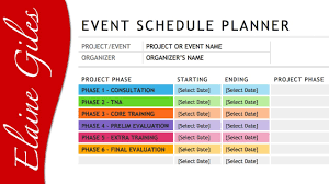 microsoft word 2013 schedule template