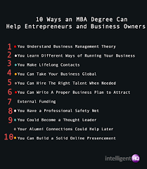 10 ways an mba degree can help entrepreneurs and business owners 10 ways an mba degree can help entrepreneurs and business owners intelligenthq