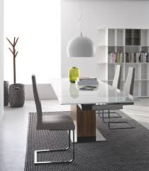 wood extendable dining table walnut modern tables:  cado modern furniture park glass modern extendable dining table