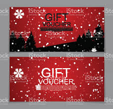 gift voucher template for christmas and new year discount coupon 1 credit
